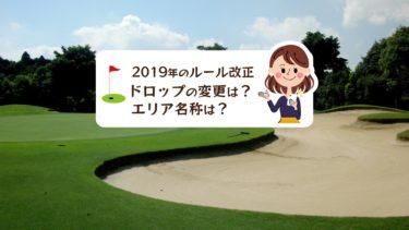 ゴルフ初心者に優しい新ルール、ドロップの変更は?エリア名称は?
