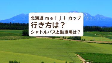 【2019年】北海道 meiji カップの行き方は?シャトルバスと駐車場は?