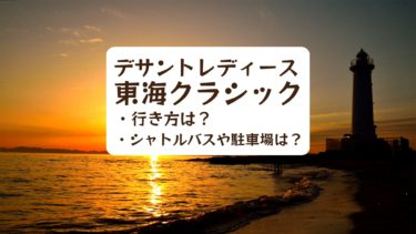 【2019年】デサントレディース東海クラシックの行き方は?駐車場は?