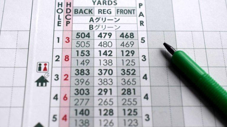 ゴルフのときのスコアカードでは名前の順番を意識することも大切です
